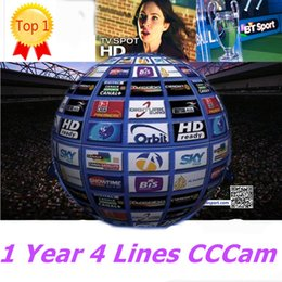 Wholesale Best Year Line Europe Cline HD CCCAM Server Account Satellite Receiver CCCAM CCAM Decoder Sky Skylink Mediaset Spain Italy French UK