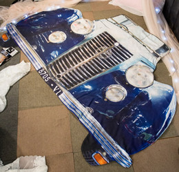 2017 refroidir lits en forme Dentelle d'été en 3D Forme de la voiture Cool Thin Filling Feather Velet Soft Quilt Twin Couette complète Literie Couette Kids Child Sofa Blanket bon marché refroidir lits en forme