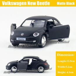 1:36 Scale Diecast Alloy Metal Car Model For Volkswagen New Beetle Collection Licensed Model Pull Back Toys Car - Matte Black