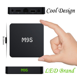 M9S Android 6.0 TV Box 4K HD Smart Boxes with HDMI 3D free Media Player Supports 2.4G Wifi for TV Entertainment