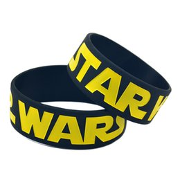 50PCS Lot Star Wars Silicone Bracelet 1'' Wide Band, Show Your Support For Them By Wearing This Wristband