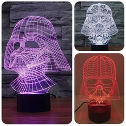 Star Wars Black Knight Lumière 3D LED 7 couleurs changeables stéréoscopique lumière de la nuit visuelle magique USB LED lampe de table vacances cadeaux de Noël à partir de lumière magique étoile fabricateur