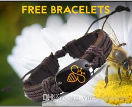 Preserve Bee Leather Bracelet Popular Handmade Bracelets for Men and women save earth bracelet YP2690
