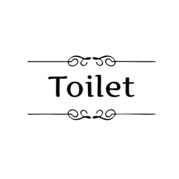 Hot Sale Cool Graphics Toilet Door Entrance Sign Stickers Personalized Bathroom Decoration Wall Decals For Shop Home Decor Diy