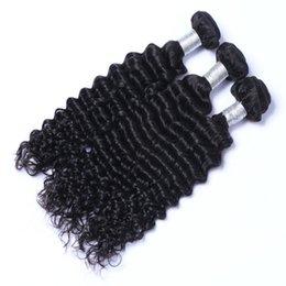 3pcs 100% Unprocessed Virgin Human Hair 10-26 inch 100g pcs Hot Selling Dyeable Natural Color Deep Wave Brazilian Human Hair Weaves
