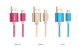 Wholesale Micro USB Charger Braided Cable Mini Size NylonStrong Wearable Fabric m ft Fast Charging A with Retail Package For iPhone