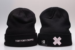 Wholesale TonyTony chopper one piece Black Beanie Hat Knitting Caps Beanies Knit Winter Hats Outdoor Skiing Caps Sport Beanies Cap High Quality