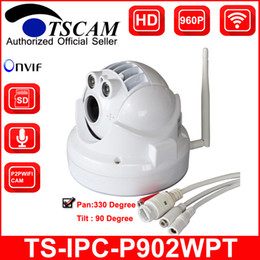 TSCAM new SP-P902WPT ONVIF HD 960P 1.3MP Wireless Wifi MINI PTZ Dome IP Camera TF Micro SD Card Slot Audio Line P2P