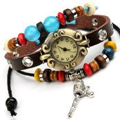 Hand woven Fashion Bracelet Watch Leather Bracelet 23g Material: head leather + alloy + Watch for girl friends Heavy reputation quality