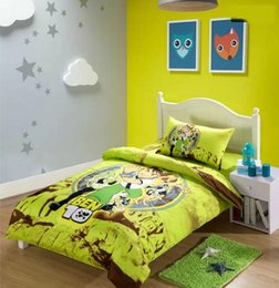 full size bed Ben 10 Cartoon Cotton children 3pcs Bedding Set Kid Nursery Bedding Free Shipping