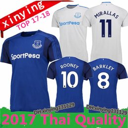 NEW 2017 2018 Everton ROONEY home soccer jersey Top quality 17 18 Everton Away jerseyS LUKAKU MIRALLAS LENNON BARKLEY football shirts