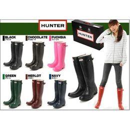 Wholesale Short Rainboots Women - 2016 Christmas Sales Short Hunter Boot Women Wellies Rainboots Ms.glossy Wellington Knee Boots Ms.glossy Women Wellington Boots