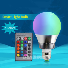 Wholesale High Quality Dimming Power Smart RGB Led Bulb Lamp Color IR Signal Remote Control by IOS Android Work with Broadlink RM Pro
