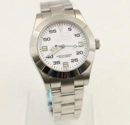 Esfera blanca para hombre de los relojes automáticos en venta-Los mejores relojes mecánicos automáticos del hombre de lujo de la marca de fábrica Los relojes impermeables del acero inoxidable de la pulsera del acero inoxidable Dial