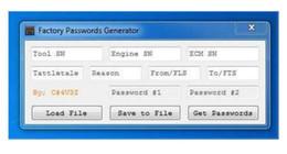Nouveau 2017 ET GÉNÉRATEUR DE MOT DE PASSE FACTORY [USB KEY] for cat à partir de clés les mots de passe fournisseurs