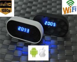 Ip ios came en Ligne-1080P HD Wifi Spy caméra cachée sans fil P2P DVR horloge Nanny IP Cam pour Android IOS iPhone