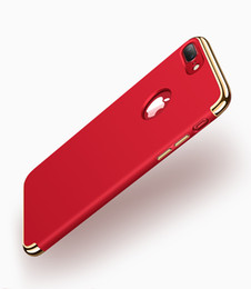 For iPhone 7 Ultra-thin Shockproof 3 in 1 Full Body Hard Electroplating Rubber Coating Back Case Cover For iphone7 5 6 6S Plus