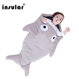 Wholesale Cartoon Shark Baby Sleeping Bag Winter Baby Sleep Sack Baby Blanket Warm Swaddle