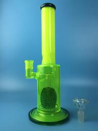 2016 Glass Water Bongs Pipes straight Type Bright yellow Recycler Filter Percolators Smoking Hookah Glass Water Pipe bongs