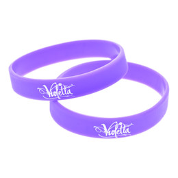 Wholesale 100PCS Lot TV Series Advertisement Silicone Bracelets Violetta Wristband A Great Way To Show Your Support