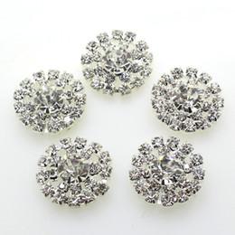 100pcs 19mm Round Metal Crystal Rhinestone Button Wedding Decor Embellishments Crafting DIY Hair Accessory Factory Direct