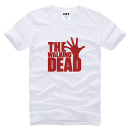 Wholesale The Walking Dead America Movie T Shirt Short Sleeve Casual T Shirt Men Tops Clothing Tee SL