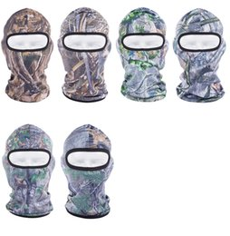 2017 Spring Unisex Hood masque complet chapeau de ski voile Balaclava Sports de plein air Jungle jeu masque caché bicyclette vélo masques de pêche à partir de jeux jungle fabricateur