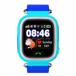 Descuento dispositivo de niño perdido HOTGPS Q90 Reloj pantalla táctil WIFI Posicionamiento Smart Watch Niños SOS Llame Ubicación Finder Dispositivo Anti Lost Recordatorio PK Q60 Q80