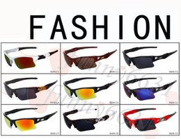 Wholesale 2017 brand new fashion men s Bicycle Glass sun glasses Sports goggles driving sunglasses cycling colors good quality