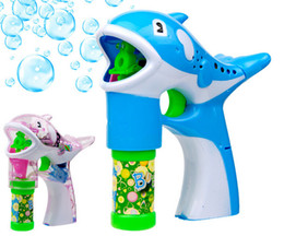 Wholesale New Children s toys blowing bubbles gun cartoon dolphins soap bubbles automatic bubble blower machine