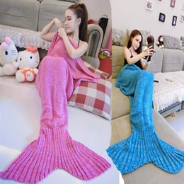 Wholesale Mermaid home service New trend sweet cute blanket casual sofa sofa wool knitting beauty tail home service