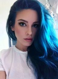 2017 Ombre Color 1B Blue Brazilian Straight Colorful Hair Bundles,Human Hair Extension 3pcs lot Hot Beauty Ombre Hair