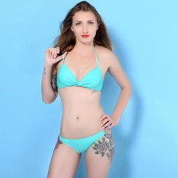 Foreign trade the original thin lotus green fortune compass diamond bikini fission swimsuit bikini beach vacation