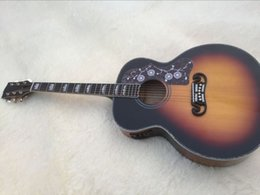 Acoustique d'érable flammé en Ligne-Wholesale- 2016 New + Factory + Sunburst SJ200 guitare acoustique érable flamme GB J200 guitare acoustique acoustique J200 guitare acoustique de luxe