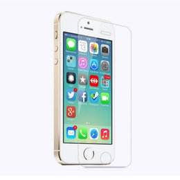 100pcs Tempered Glass Screen Protectors For Iphone 5 5s SE 5C 2.5D Explosion Shatter Screen Protector Film DHL logistics