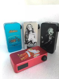 Wholesale Chrismas Hexohm v3 Box Mod w Vape Mods VV VW Black Skull Beautiful Girl Santa Claus Riders Hex Ohm W LED