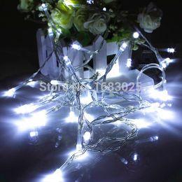 El mejor precio llevó las luces de navidad en Línea-Venta al por mayor-Mejor Batería de Precio Operado 40 LED Navidad Fiesta Boda Luz Hada Luz Lámpara Decoración