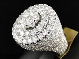 11.82 Ct New Mens White Gold Round Diamond 3D Eternity XL Pinky Band Ring