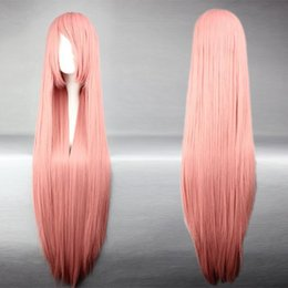 MCOSER Free Shipping Top Grade Synthetic Vocaloid Luka Popular Smoke Pink Long Straight Cosplay Wig