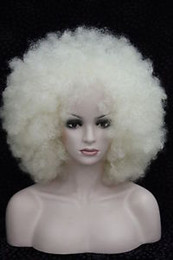 Charm women@men blonde big Afro Ladies top Synthesis Wigs77 yt Perruque wigs for women
