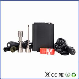 Wholesale Temperature Control Case Black color Dnail Enail Kit With mm coil heater Titanium nail Ti carb cap in aluminum case