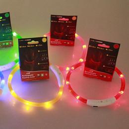 Rechargeable USB LED Flashing Light Band Belt Safety Pet Dog Collar
