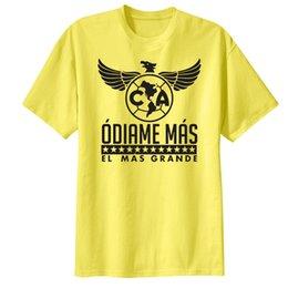 Wholesale La Chona Club America Mexico Aguilas Camiseta T Shirt Estadio Azteca Celeste eagle Club America T shirt Silvio Romero Peralta