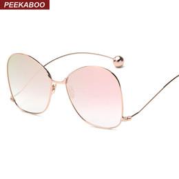 2017 gafas de sol púrpura Venta al por mayor Peekaboo nuevo amarillo púrpura teñido gafas de sol de moda de la vendimia diseñador femenino mujeres gafas de sol 2016 de alta calidad de metal fino gafas de sol púrpura en oferta