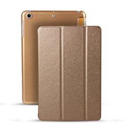 For iPad Mini 1 2 3 4 Fold Magnetic Smart Cover Matte Back Cases iPad Air 2 Mini Retina Folding Case With Auto Sleep Wake Smart Case