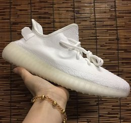 Wholesale Cream White v2 Boost Shoes Sply Triple White Kanye West Sneakers on Sale UV black Light to show alternate tooling off