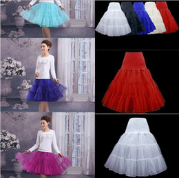 2017 New Wedding Bridal Petticoat Many Colors Hoopless Crinoline Lady Girls Underskirt Rockabilly Dance Petticoat Skirt Tutu