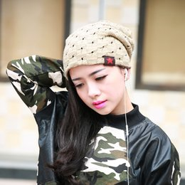 Wholesale New Korea dual use positive and negative men and ladies and five pointed star set wool hat best selling Korean knit hat