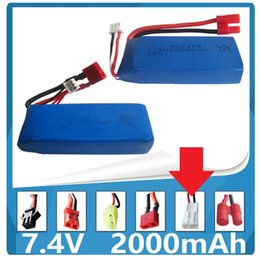wholesale 7.4V 2000mAh for hubsan four drone Syma X8C X8W X8G quadrocopter high capacity Lipo battery