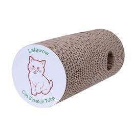 Tampons chat à gratter en Ligne-Lalawow chat gratter le poste Animaux de grattage Pad Dog Scratch Tube avec Cat Teaser Bulit-in Bell Toy